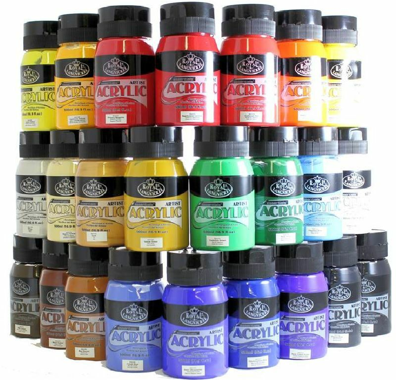 Royal langnickel 500ml essentials acrylic paint tubs jars for Craft essentials acrylic paint