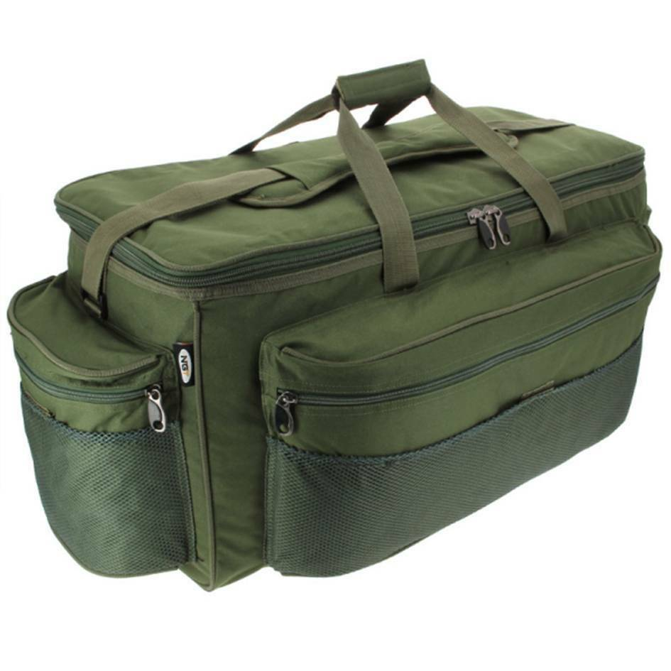 New gaint xxl green carp fishing tackle bag holdall ngt for Fishing tackle bag