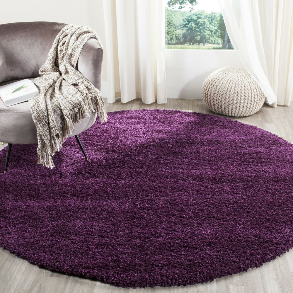 Purple Rug: Safavieh Powerloomed Purple Contemporary Plush Shag Area