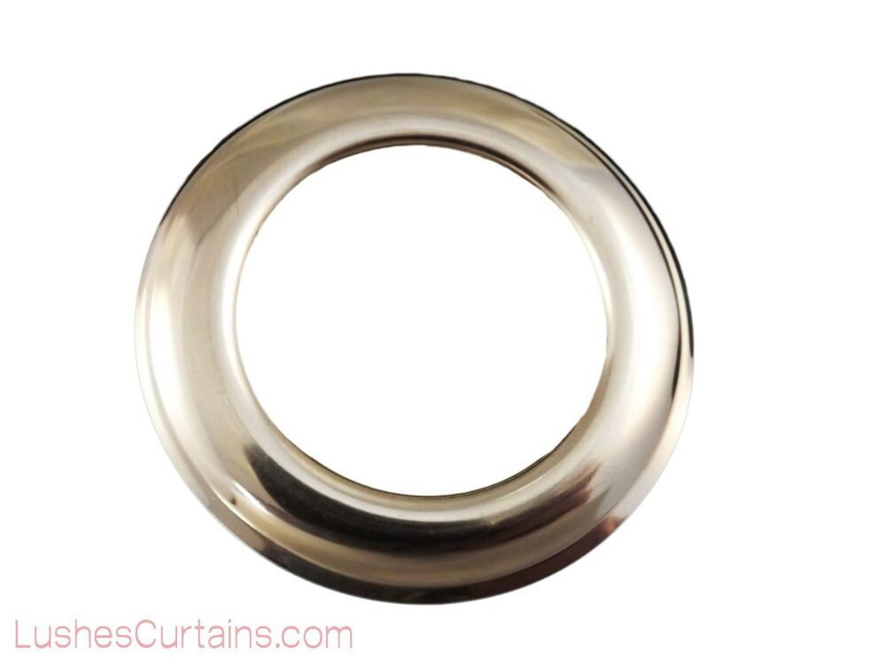 Curtain Drapery Chrome Metal Grommets Washer 12 Inner Diameter 1 9 16 Pack Of Ebay