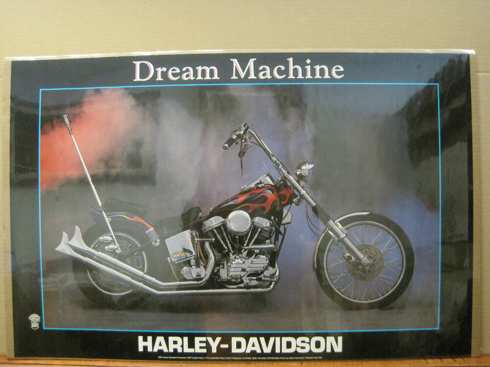 Man Cave Posters For Sale : Dream machine vintage poster harley davidson