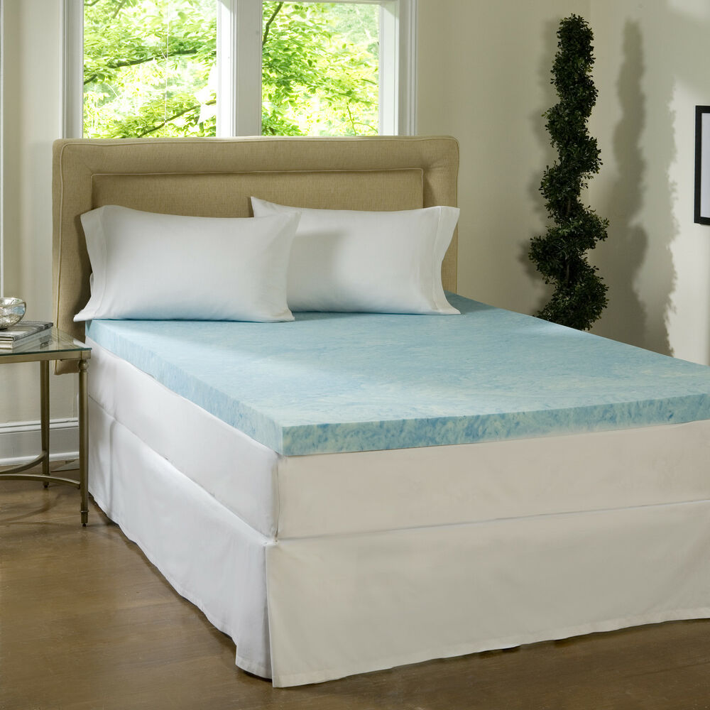 Comforpedic loft from beautyrest 4 inch flat gel memory foam mattress topper ebay 4 memory foam mattress topper
