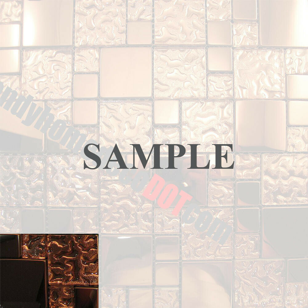 kitchen tiles pattern sample copper metal pattern textured glass mosaic tile 3347