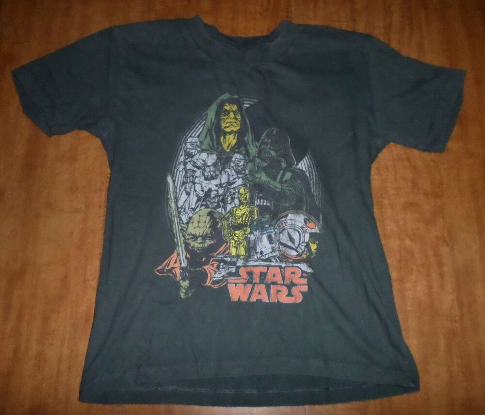 star wars youth med t shirt darth sidious kids tee emperor palpatine yoda ebay. Black Bedroom Furniture Sets. Home Design Ideas