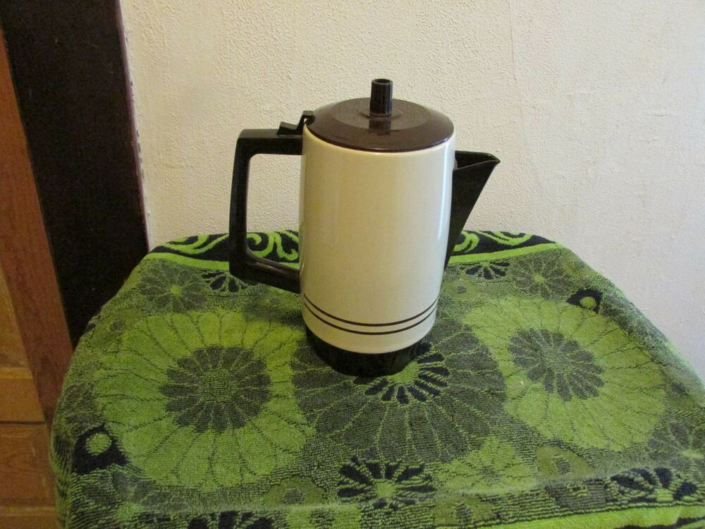 West Bend Coffee Maker Percolator : VINTAGE WEST BEND 9 CUP COFFEE MAKER/ PERCOLATOR # 54119. BEIGE/BROWN. eBay