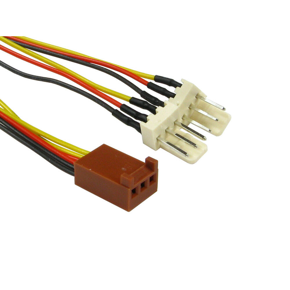 3 Pin Fan Power Splitter Cable Lead 1 Female To 2 X Male