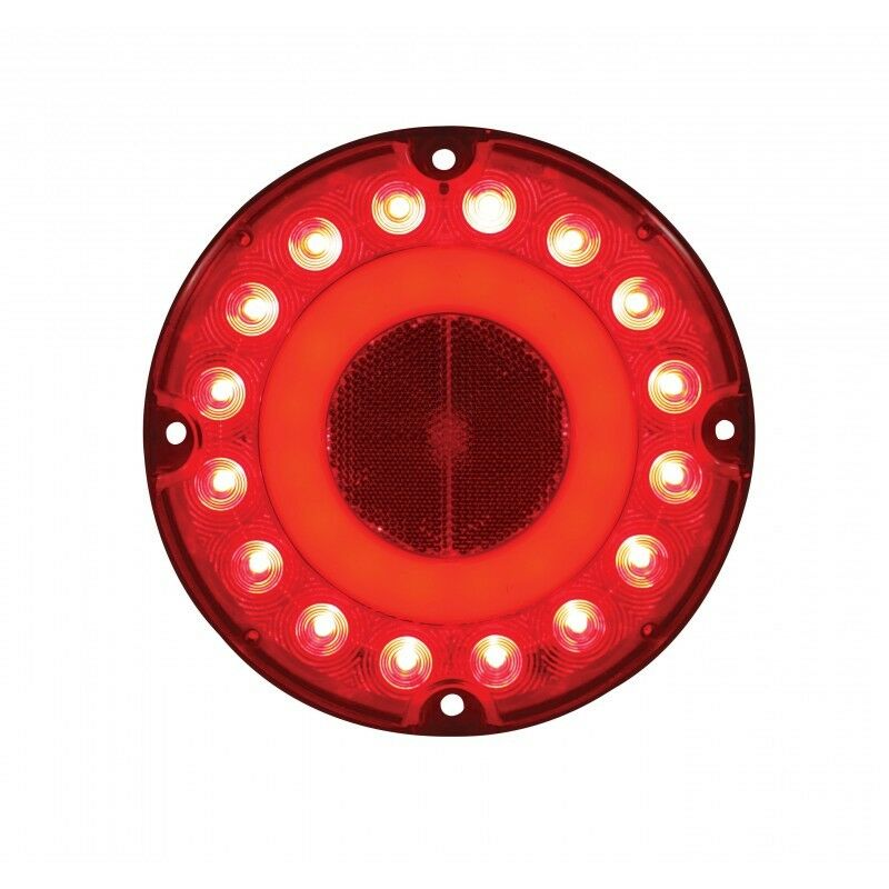 2 Quot Halo Effect Quot Red 32 Led 7 Quot Round Bus Truck Rv Brake