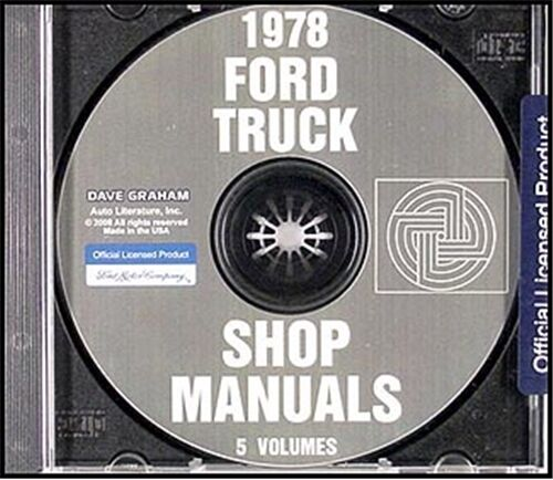 1978 Ford Truck Shop Manual Set On Cd Pickup Bronco Van
