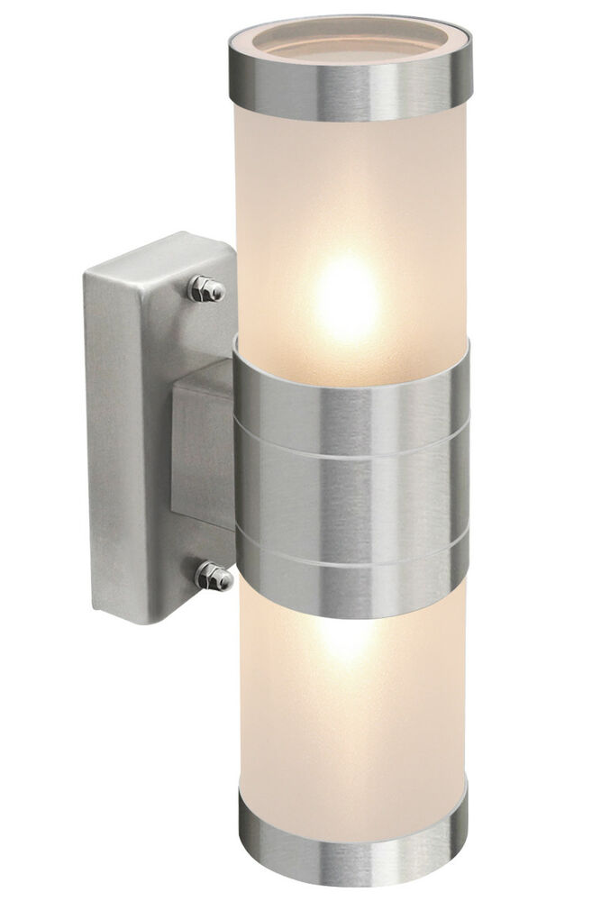 Outdoor Up / Down Stainless Steel Wall Light Frosted Glass Cover IP44 ZLC017 eBay