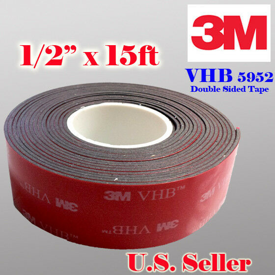 3m 1 2 Quot X 15 Ft Vhb Double Sided Foam Adhesive Tape 5952