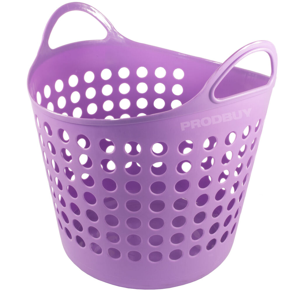 Storage Basket Washing Clothes Bin Hamper Lined With Handle Ebay