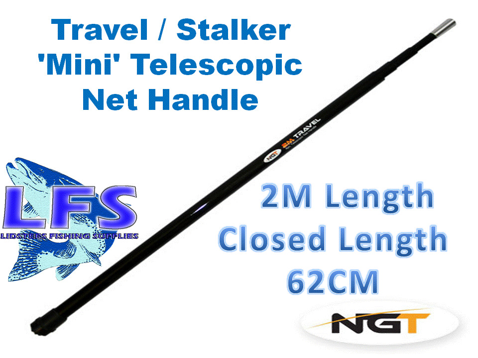 Telescopic landing net handle 4 piece 2m fishing tackle ebay for Telescoping fishing net
