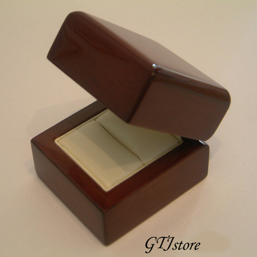 Wedding Ring Gift Box : Oak Wood Wedding Ring Engagement Gift Box OAKR001 - FREE EXPRESS ...