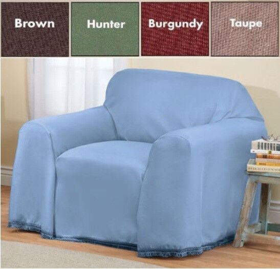 SOLID COLOR CHAIR FURNITURE THROW COVER, 70 Inches X 90