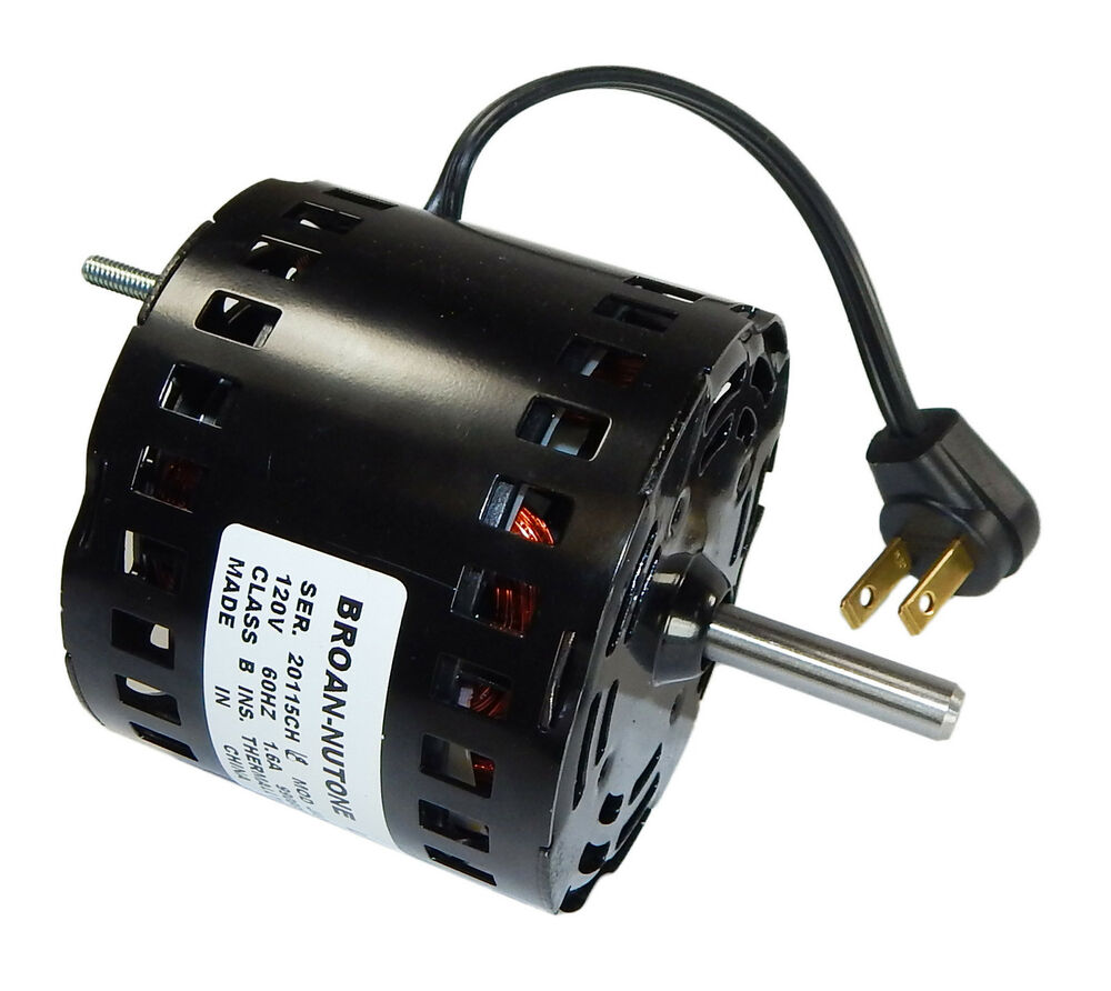 Broan replacement vent fan motor 1 6 amps 1700 rpm 120v for 1 20 hp electric motor