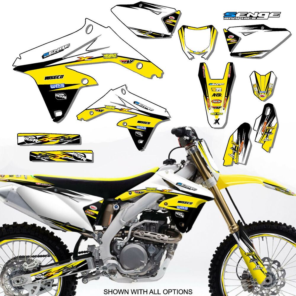 1999 2000 suzuki rm250 rm 250 graphics kit 99 00 decals for Stickers deco