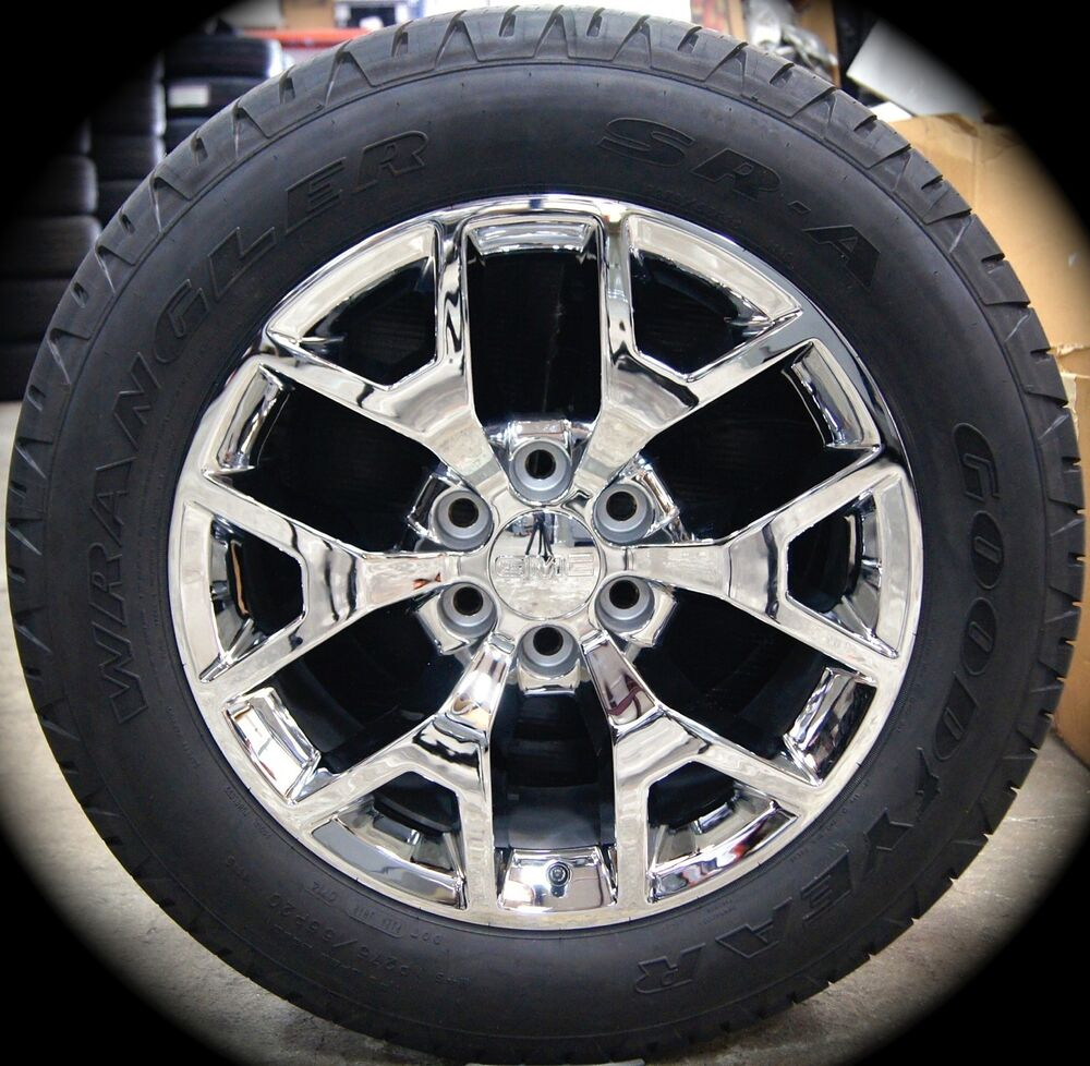 New GMC Yukon XL Sierra Denali Chrome 20 Wheels Rims Tires TPMS ...