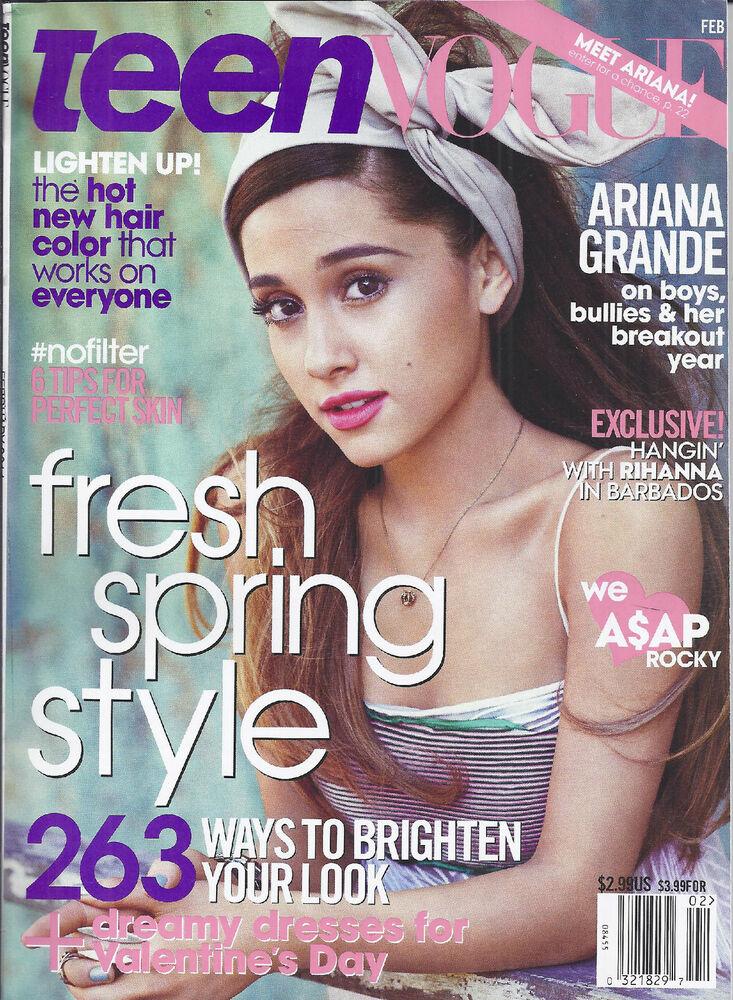 teen vogue magazine ariana grande fresh spring style a ap rocky