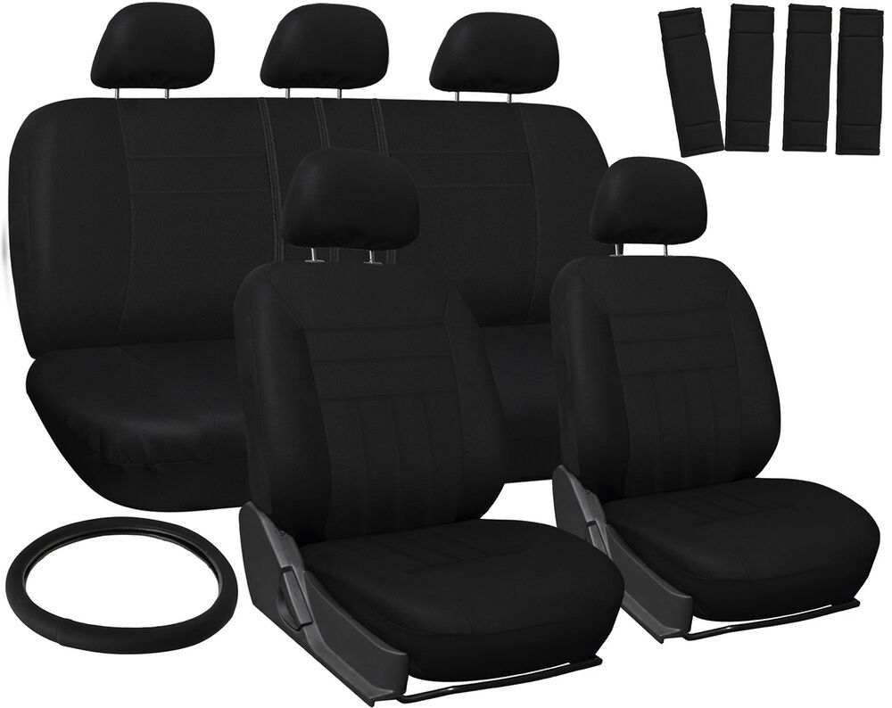 Car Seat Cover For Kia Optima Solid Black With Steering