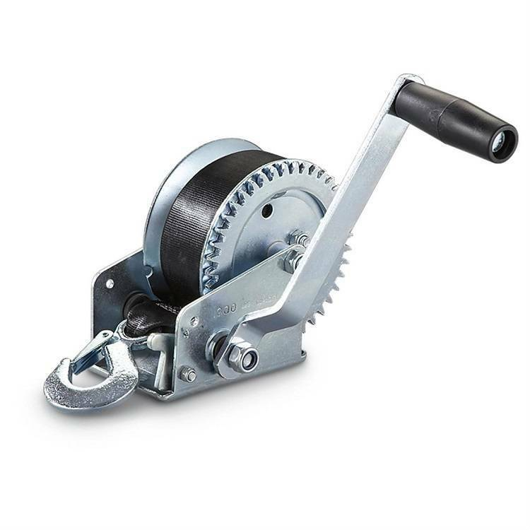 New Heavy Duty Hand Crank Strap Winch 600lb Jet Ski Atv