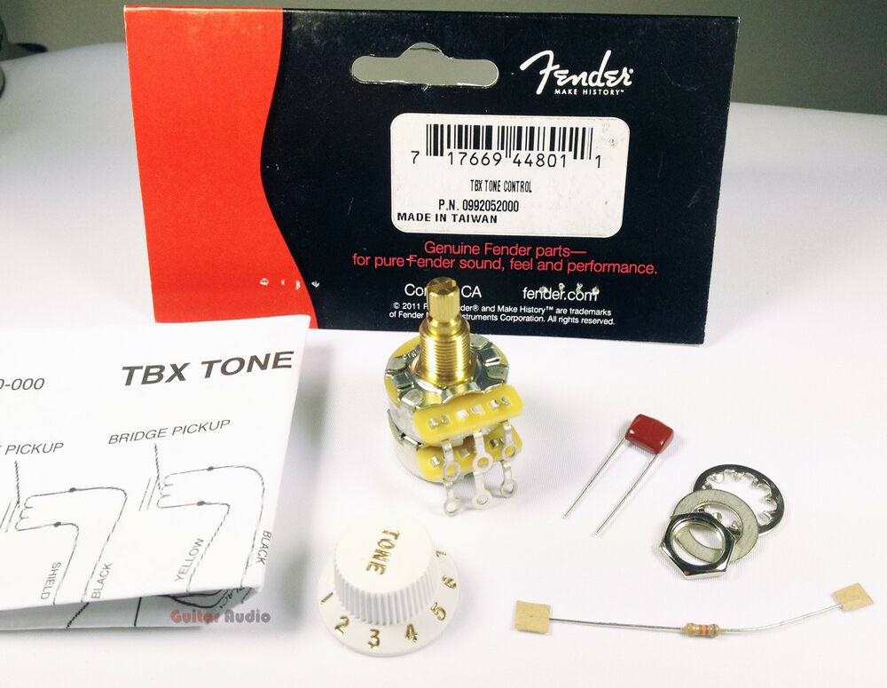 genuine fender tbx tone control 250k 1 meg stacked pot. Black Bedroom Furniture Sets. Home Design Ideas