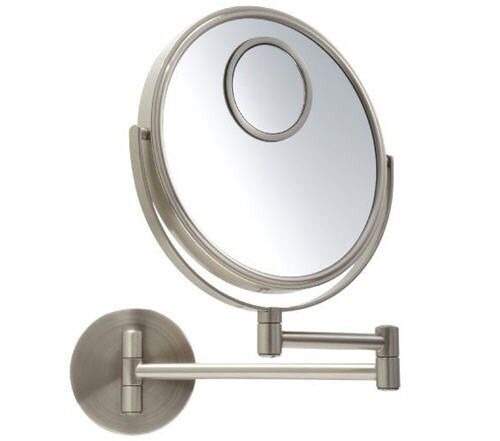 jerdon jp7510n 8 makeup wall mount mirror nickel 10x optics 15x spot ebay. Black Bedroom Furniture Sets. Home Design Ideas
