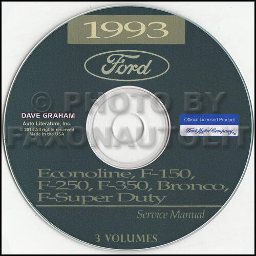 1993 Ford Van Shop Manual Cd Econoline E150 E250 E350 Club