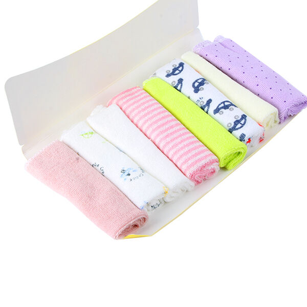 8Pcs Baby Face Wash Hand Towels Cotton Wipe Wash Cloth