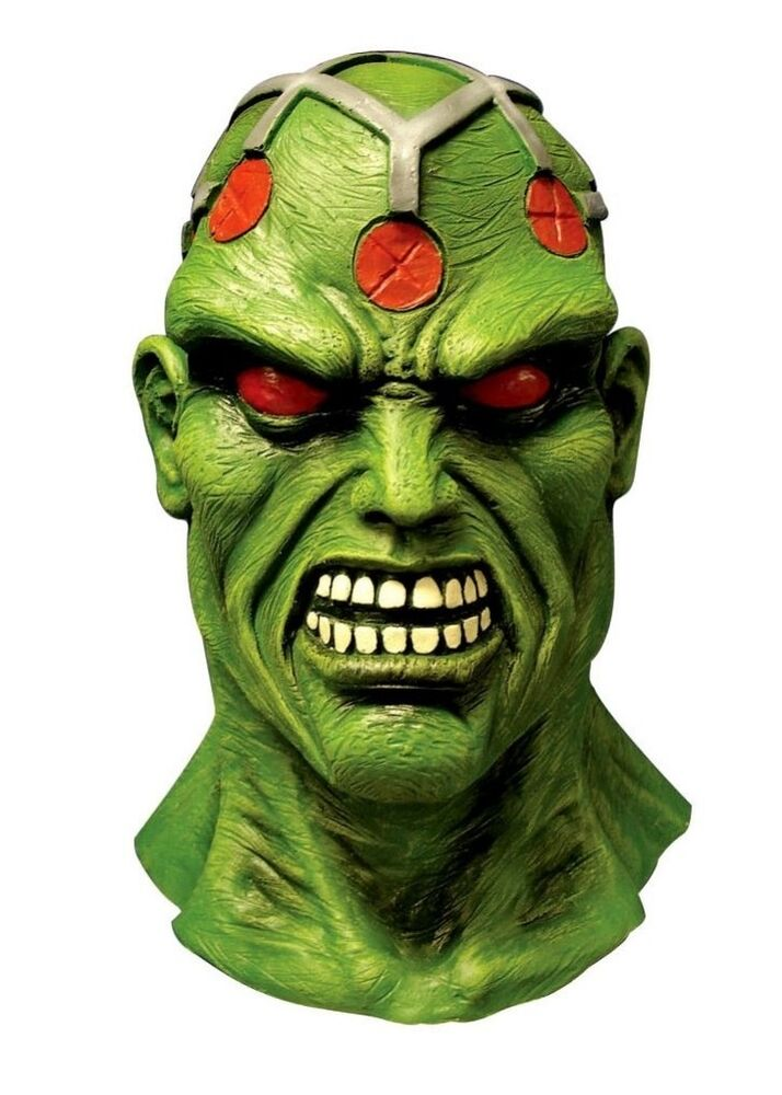 dc comics superman brainiac deluxe overhead latex adult