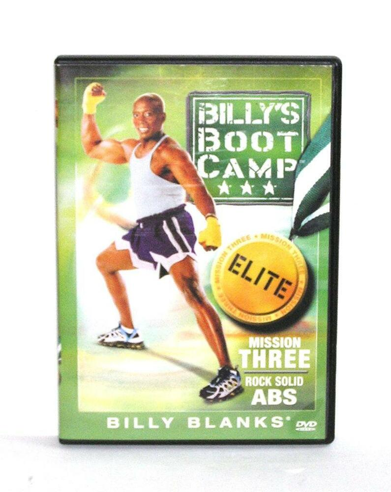 dvd video exercise routine billy 39 s boot camp elite mission three rock solid abs ebay. Black Bedroom Furniture Sets. Home Design Ideas