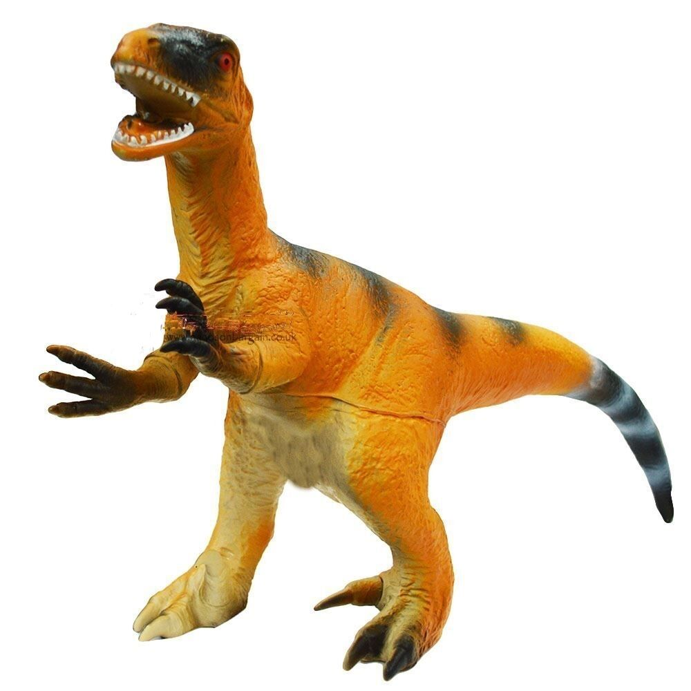 Giant 36cm soft rubber velociraptor dinosaur model figure toy ty163 ebay - Raptor dinosaure ...