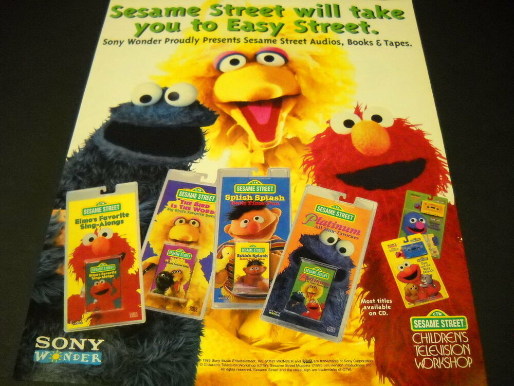 Sesame Street Will Take You to Easy Street 1995 Promo Poster Ad Mint