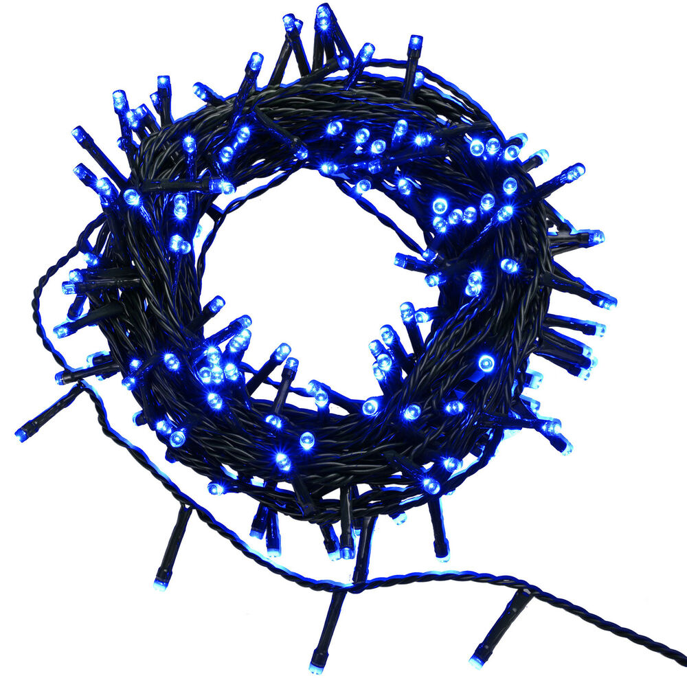 200 LED Christmas Tree Lights String with Chasing Static Settings, Blue eBay