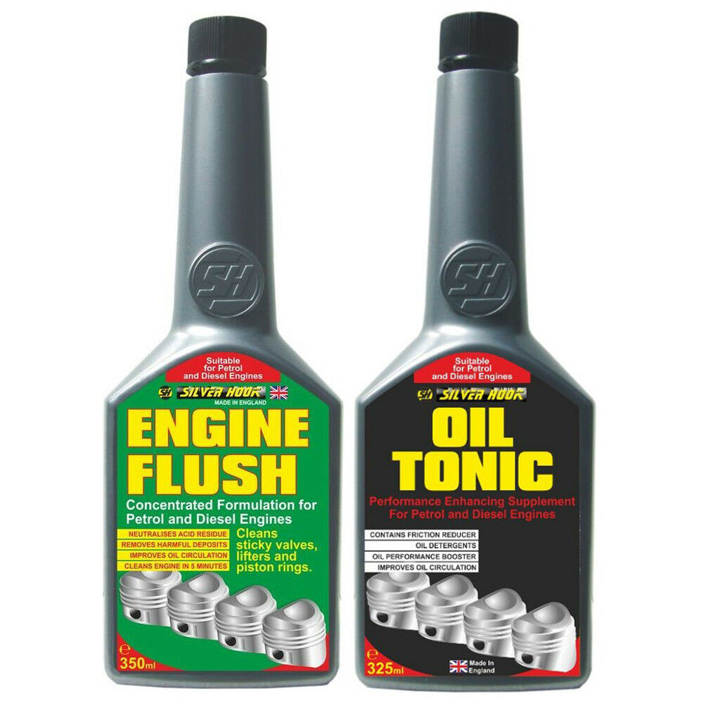 2 Pack Engine Flush Additive Cleaner Oil Treatment