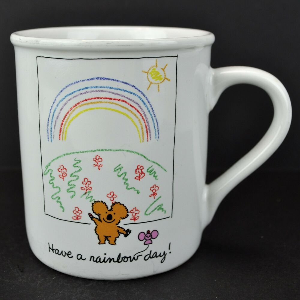 cute coffee mugs koala a rainbow day vtg hallmark coffee mug 30076