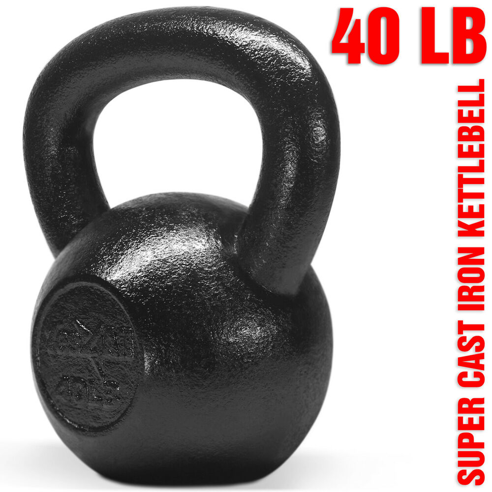 Kettlebell 40 Lbs Hand Weight Fitness Body Training
