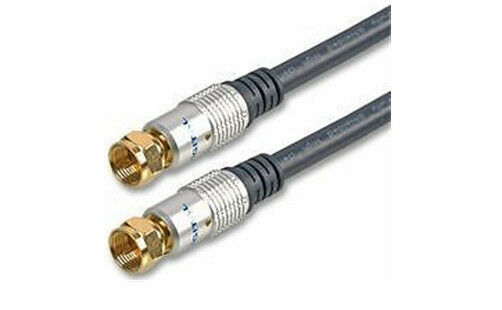 f type lead flylead 1 mtr gold coax coaxial cable satellite tv cable sky ebay