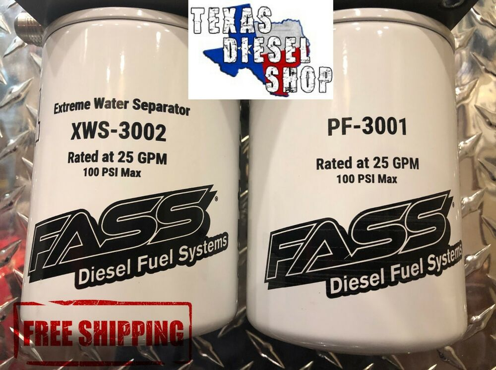 Fass Grey Titanium Series Fuel  U0026 Water Filter Package  Fws