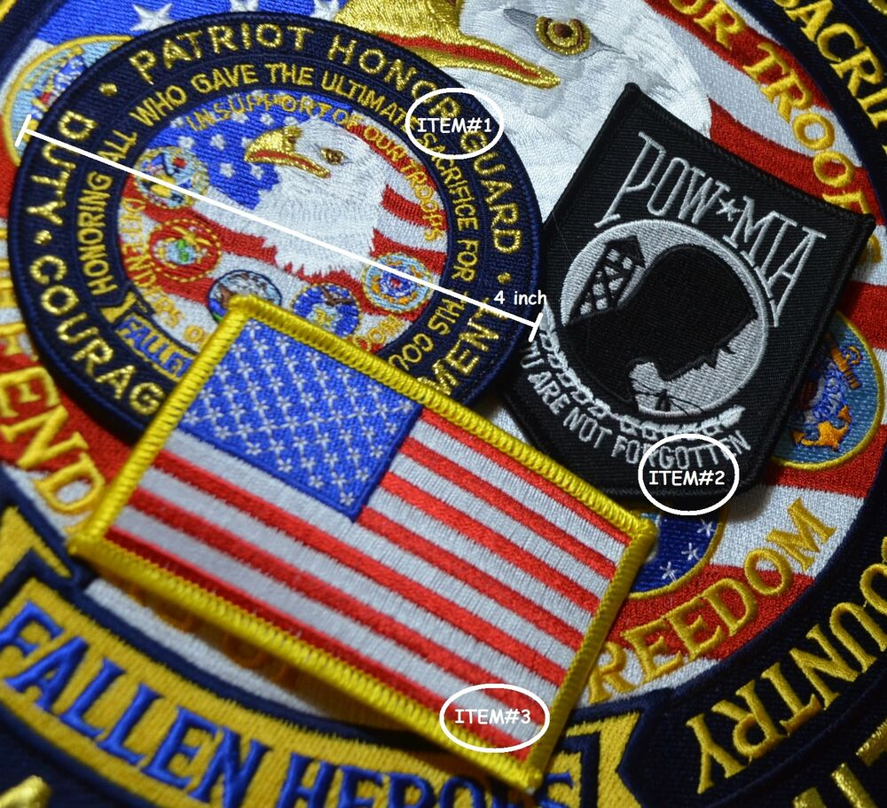 Help on the homefront patriot guard riders patches