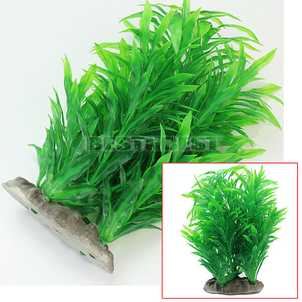 Green Artificial Aquarium Fish Tank Plastic Plant Water ...