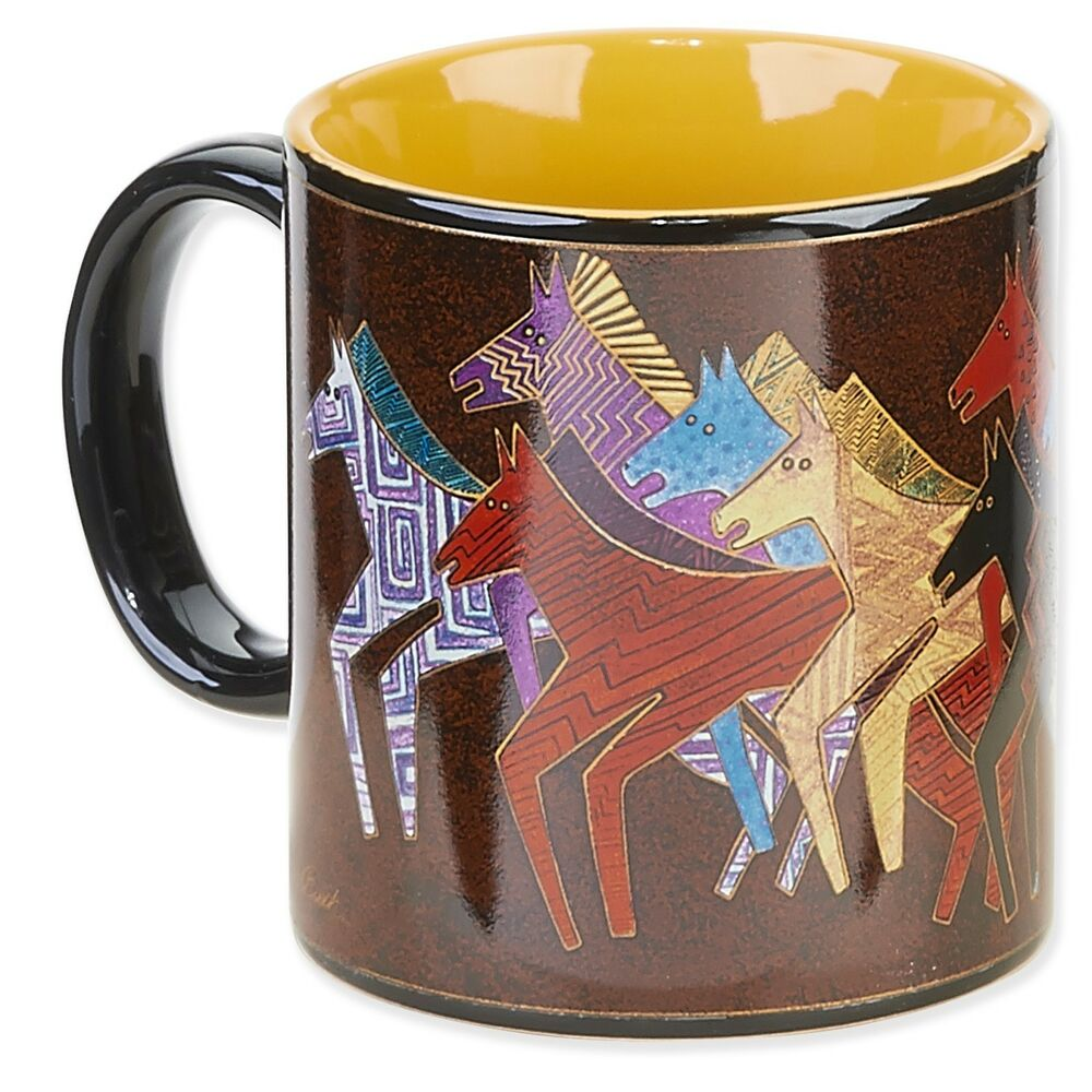 laurel burch native horses arabian coffee tea mug nib. Black Bedroom Furniture Sets. Home Design Ideas