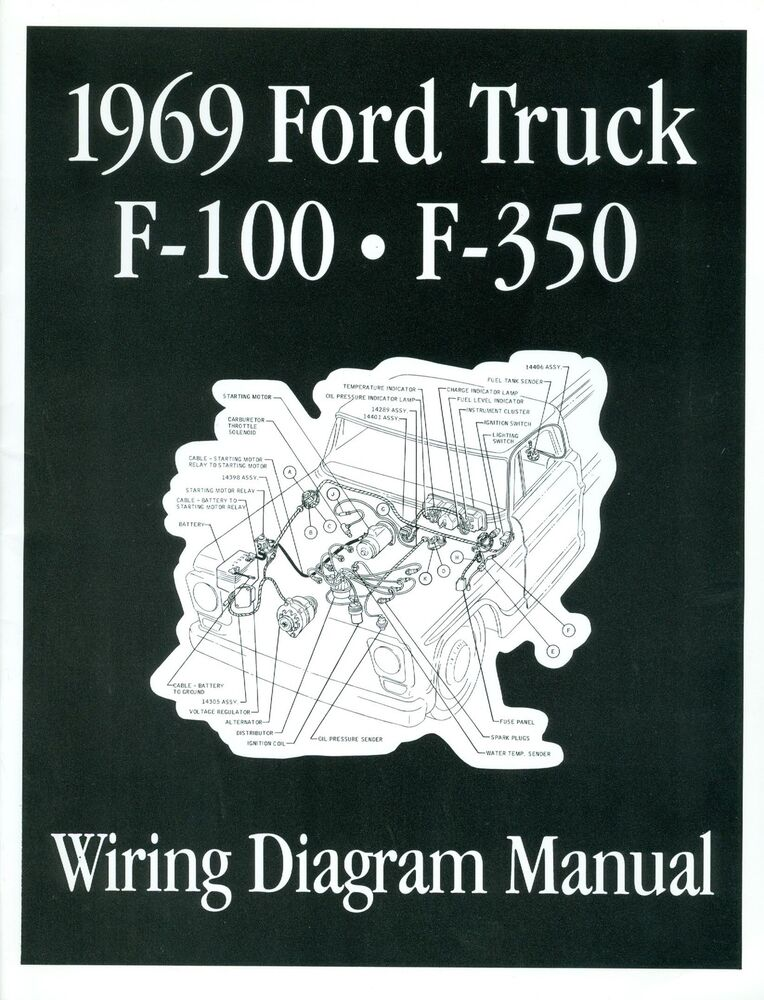 1969 FORD F100   F350    TRUCK WIRING MANUAL   eBay
