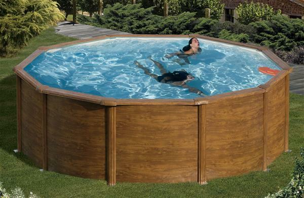 Pool stahlwandpool set mypool feeling holzoptik rund for Stahlwandpool set angebote
