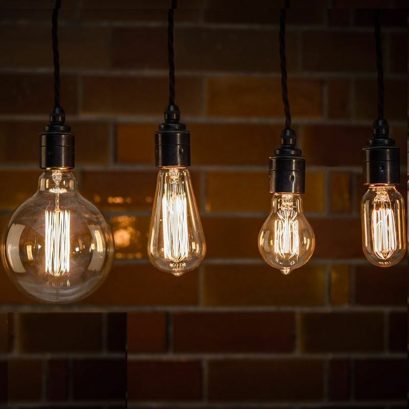 Vintage Industrial Filament Light Bulbs Squirrel Cage Antique Style 40W