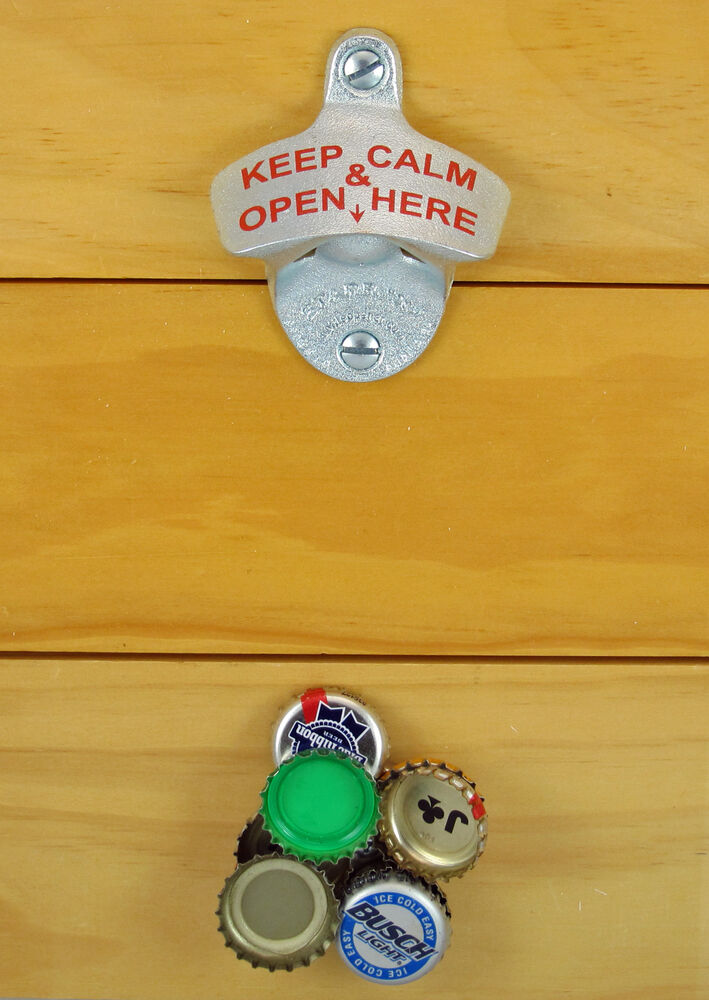 magnetic cap catcher keep calm and open here starr x bottle opener combo new ebay. Black Bedroom Furniture Sets. Home Design Ideas