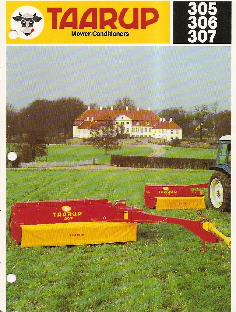 farm equipment brochure taarup 305 306 307 mower conditioners f2418 ebay. Black Bedroom Furniture Sets. Home Design Ideas