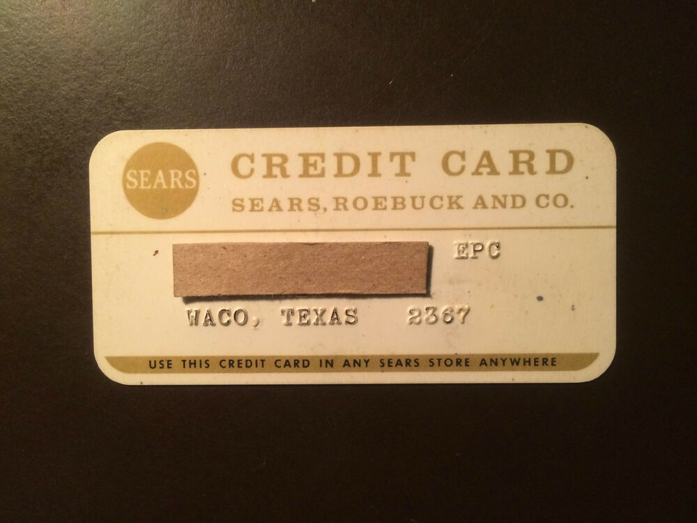 Sears, Roebuck and Company 1970\'s Vintage Collectors Credit Card ...