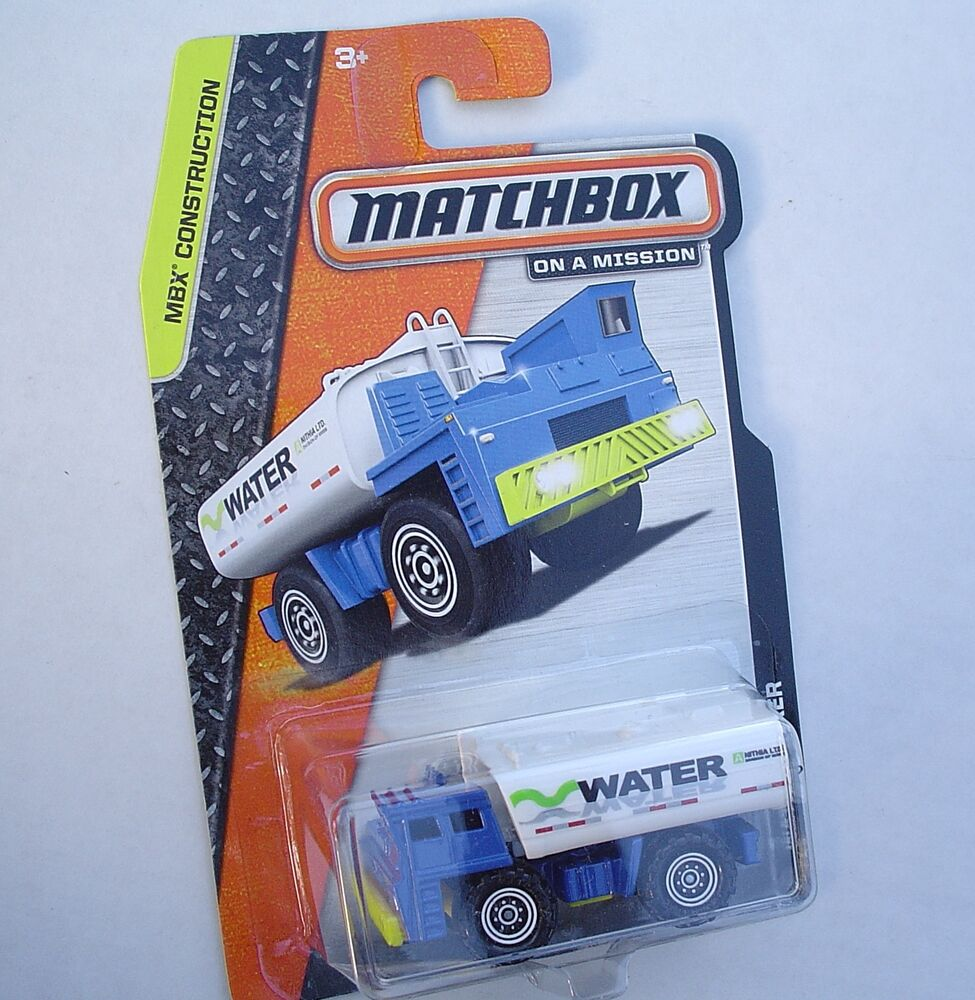 Water Tanker. Matchbox 15/120. MBX Construction. NEW In