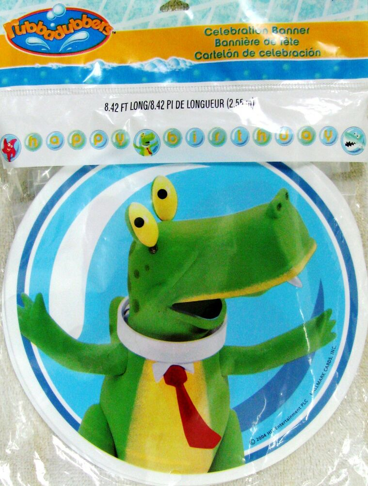 Rubbadubbers Plastic Happy Birthday Banner Party
