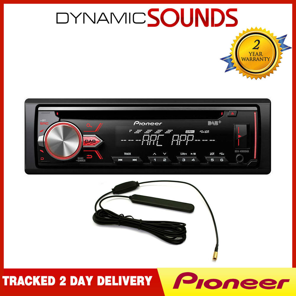 iphone car radio pioneer deh 4800dab car cd mp3 stereo dab digital radio 11701